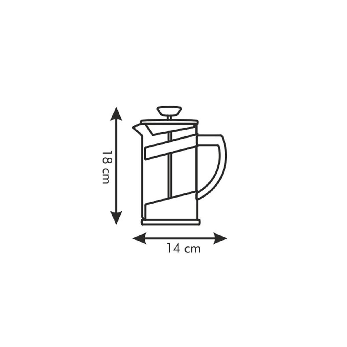 Konvice na čaj a kávu TEO 0.6 l