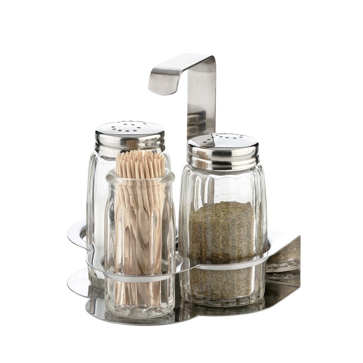 Souprava sůl, pepř a párátka CLASSIC