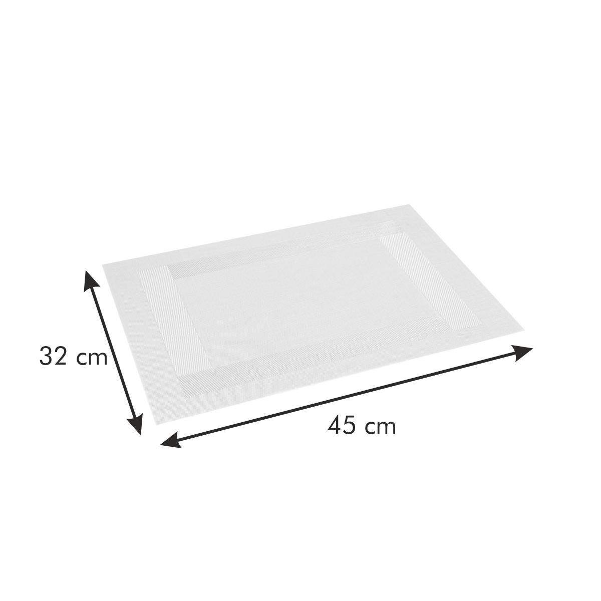 Prostírání FLAIR FRAME 45x32 cm, smetanová