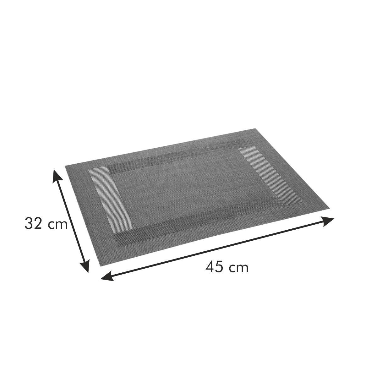 Prostírání FLAIR FRAME 45x32 cm, hnědá
