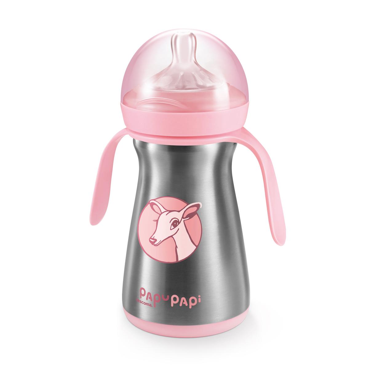 Termo láhev PAPU PAPI 200 ml, růžová