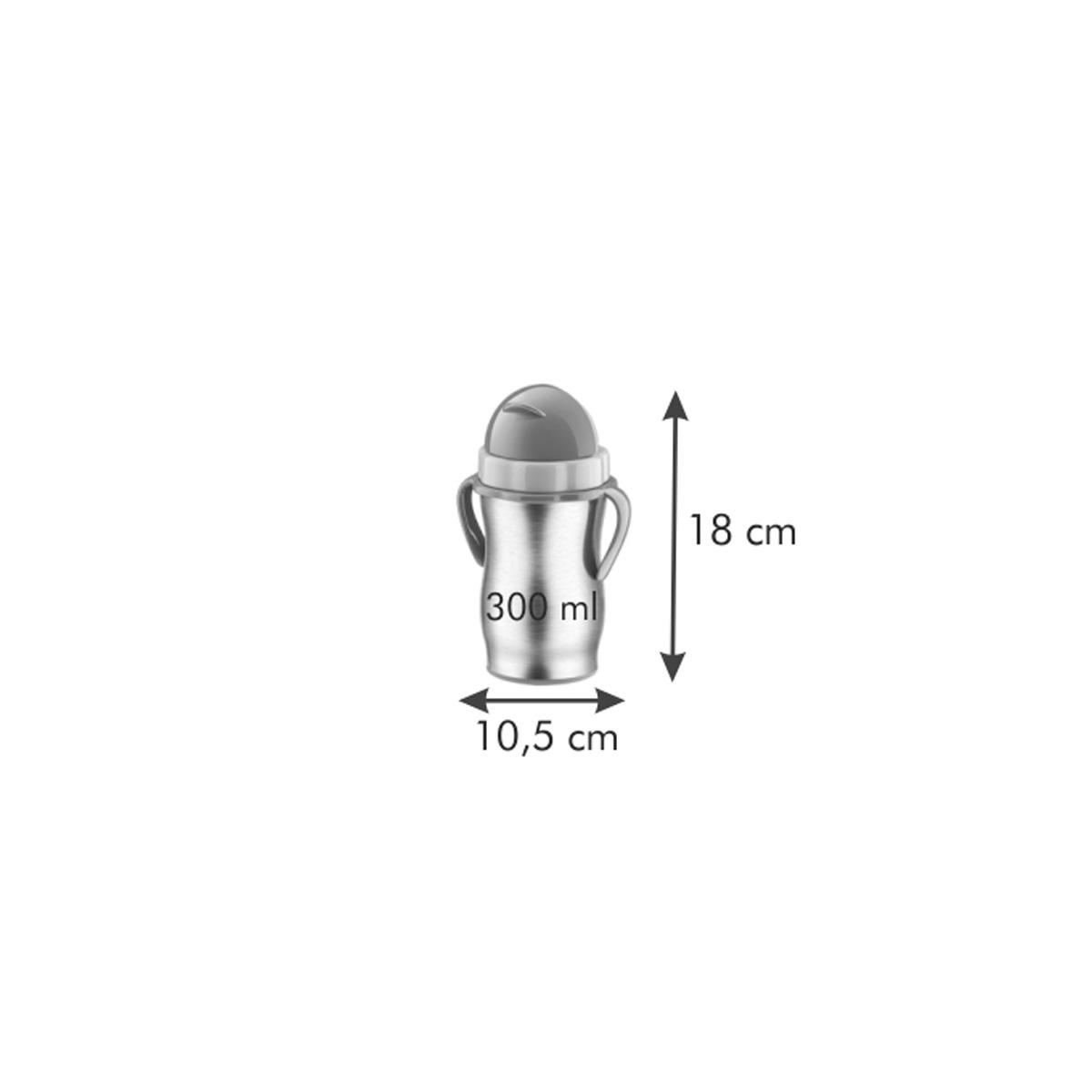 Dětská termoska s brčkem BAMBINI 300 ml, nerez