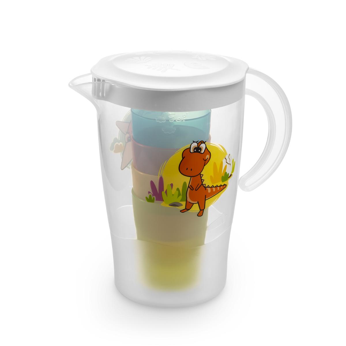 Džbán se 4 pohárky DINO 1,7 l