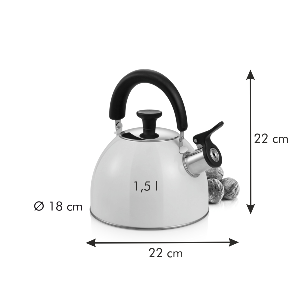 Čajová konvice PERFECTA Cream 1.5 l