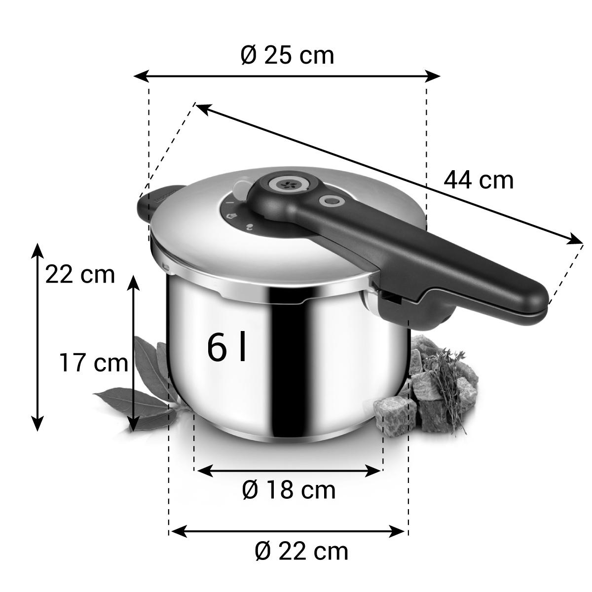 Tlakový hrnec SmartCLICK 6,0 l