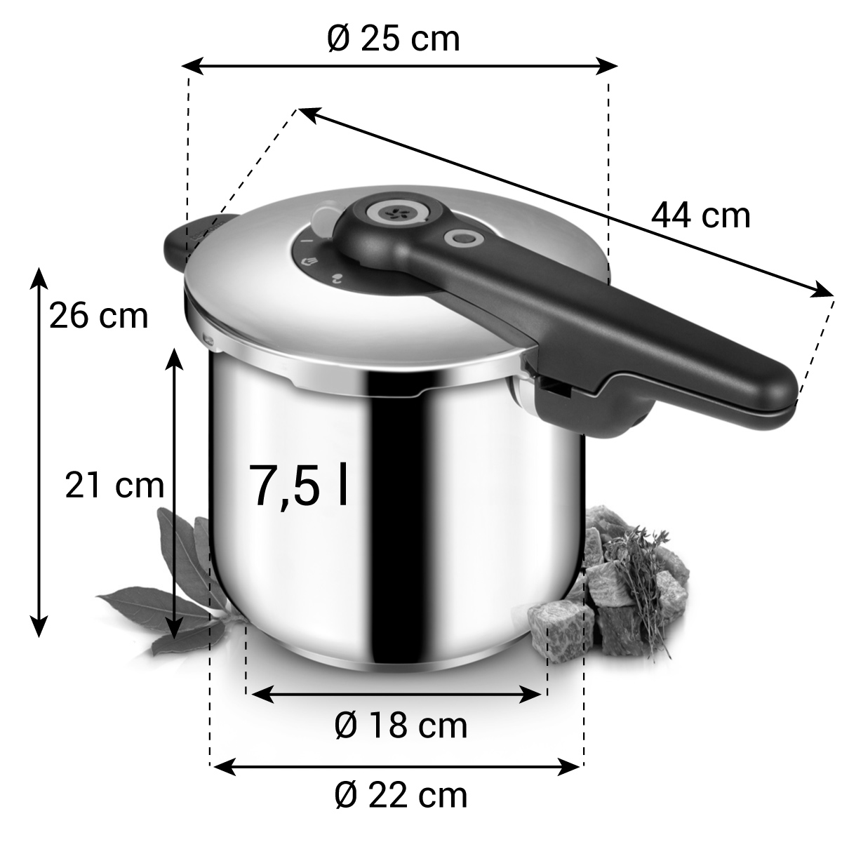 Tlakový hrnec SmartCLICK 7,5 l