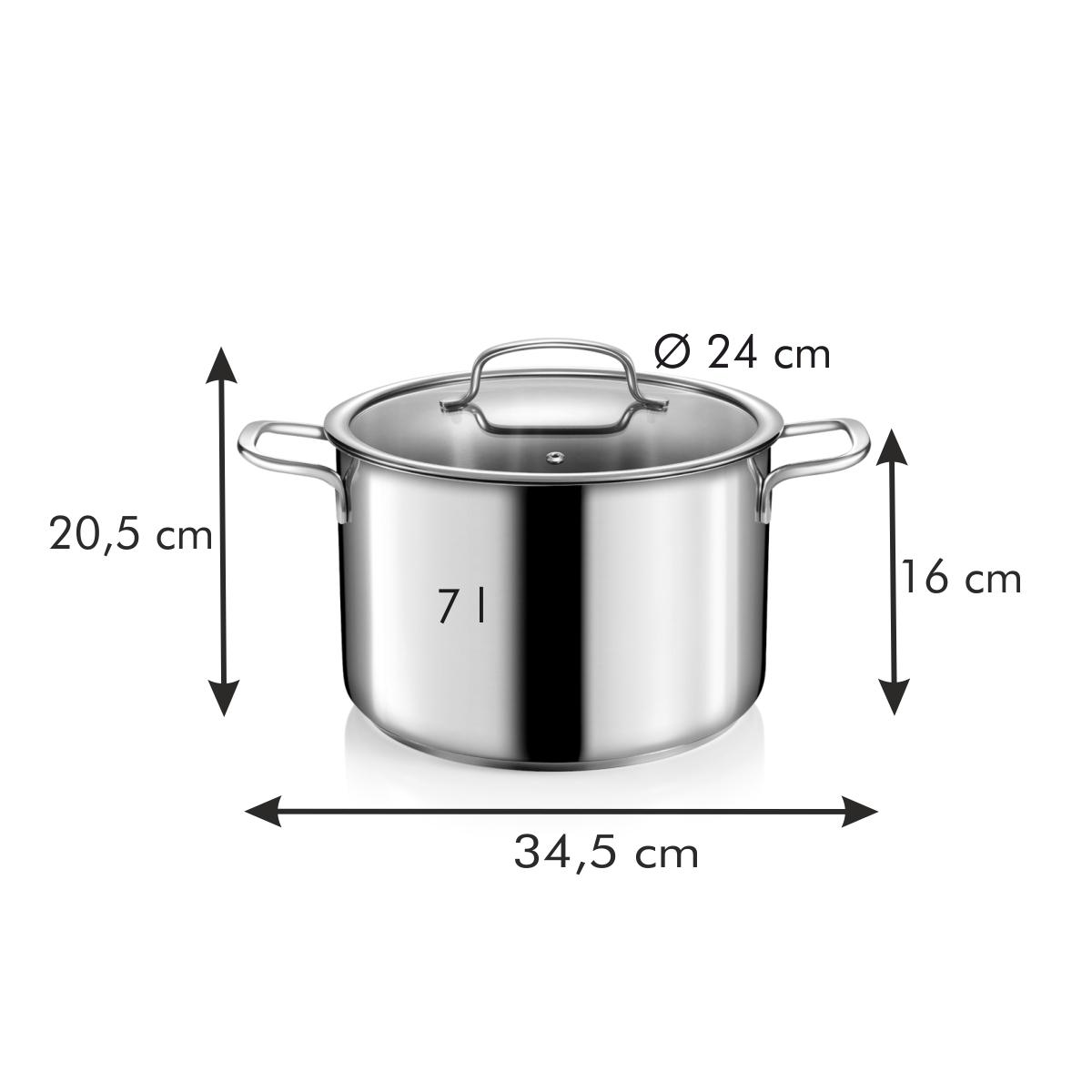 Hrnec s poklicí OPTIMA ø 24 cm, 7,0 l