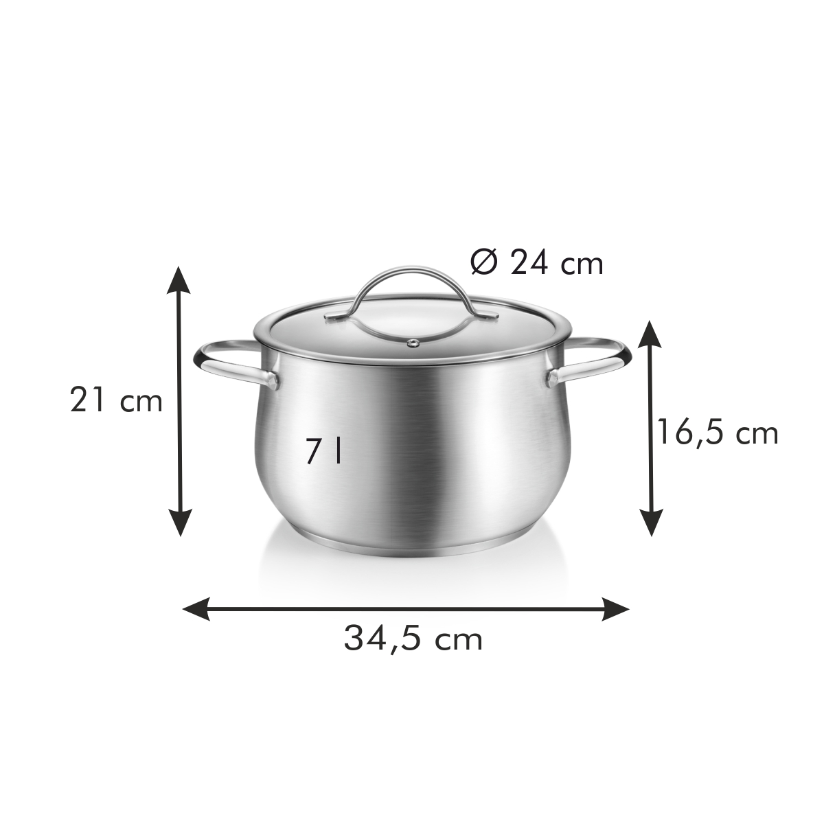Hrnec s poklicí HARMONY ø 24 cm, 7,0 l