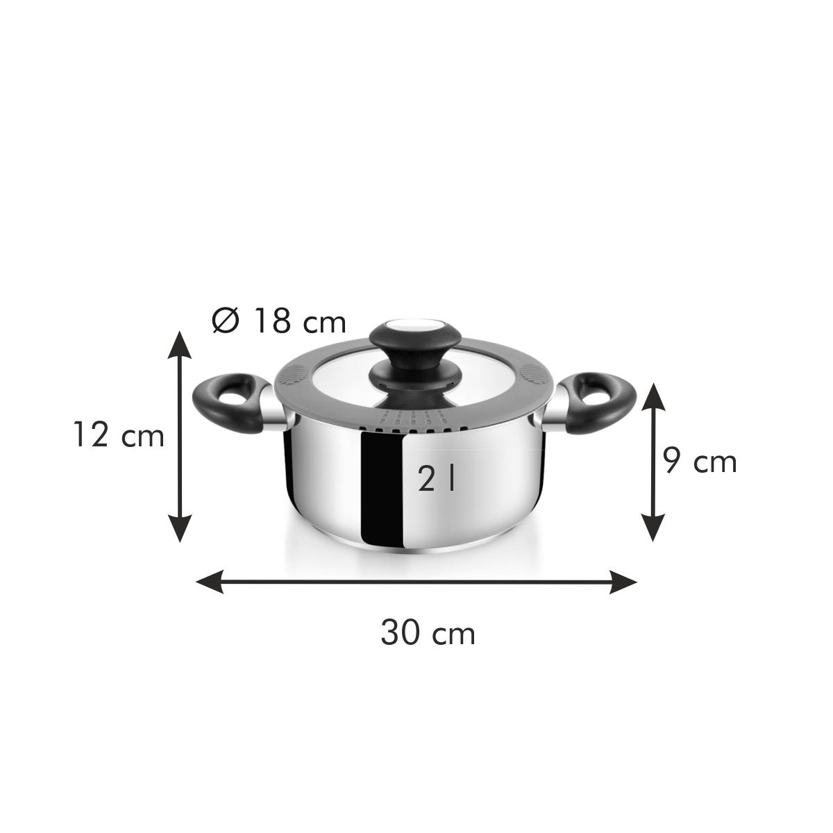 Kastrol SmartCOVER s poklicí ø 18 cm, 2.0 l
