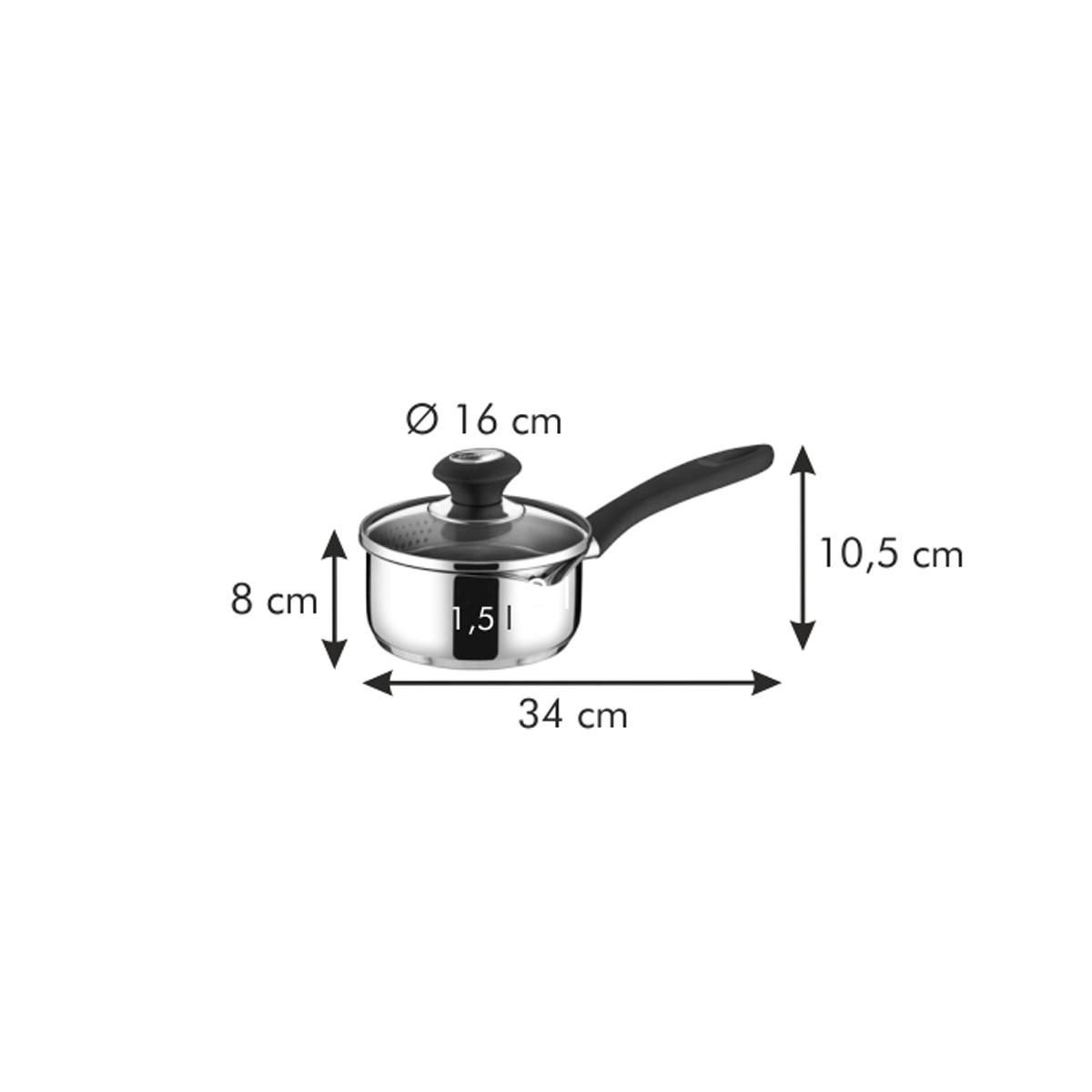 Rendlík PRESTO snálevkou a poklicí ø 16 cm, 1.25 l