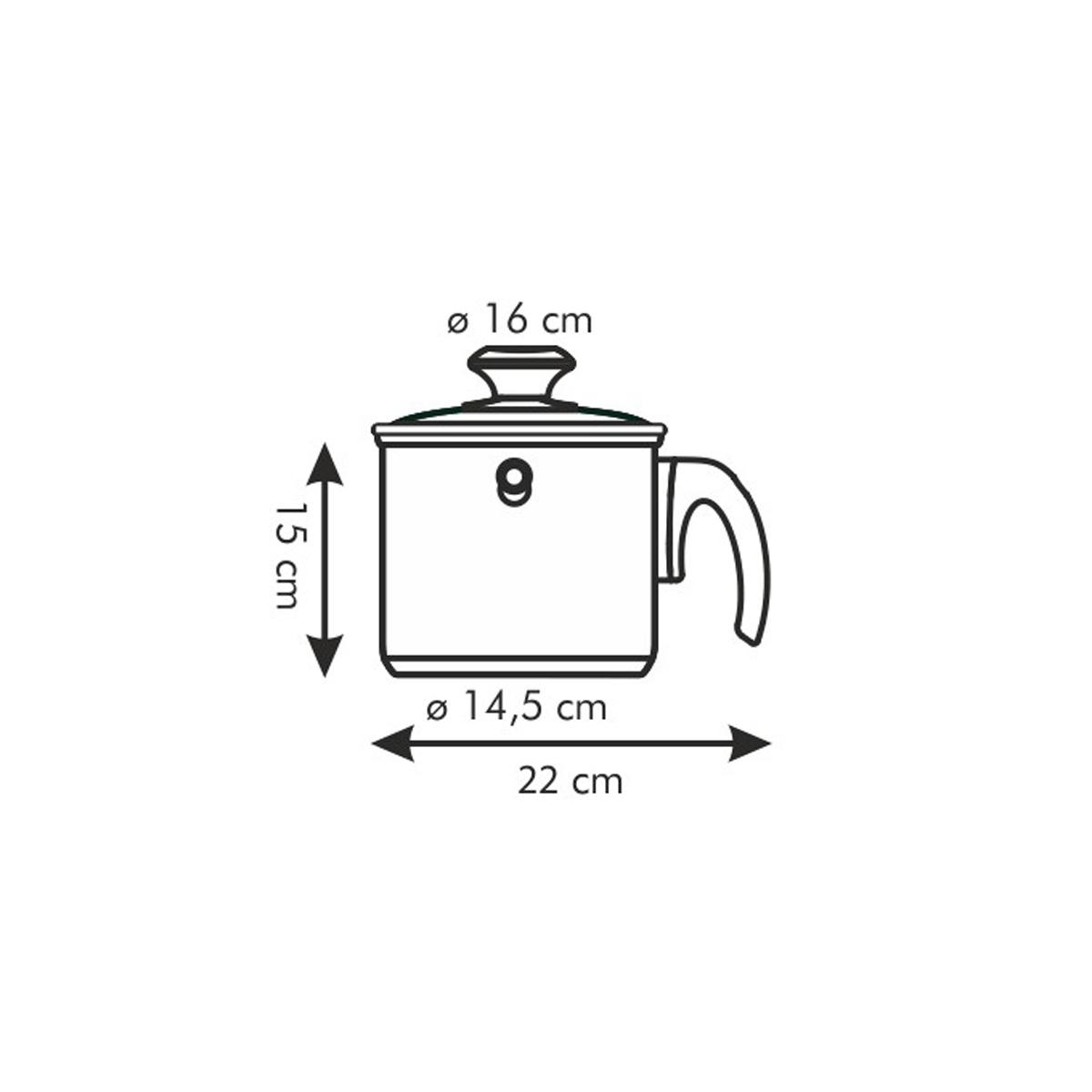 Mlékovar dvouplášťový PRESTO s poklicí ø 16 cm, 2.0 l