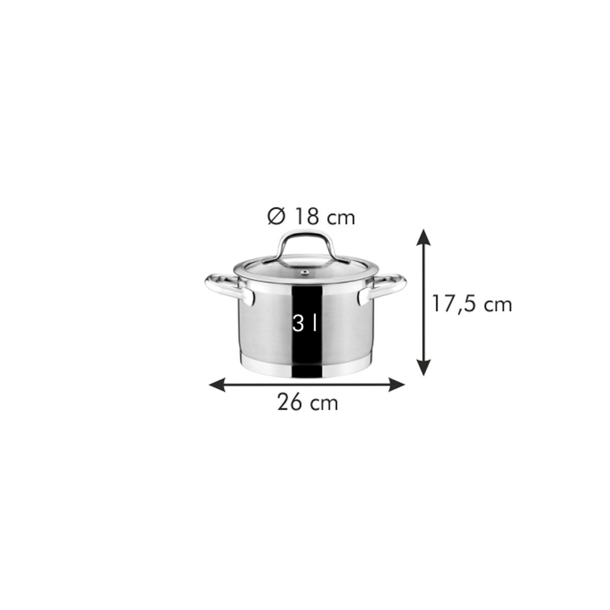 Hrnec PRESIDENT s poklicí ø 18 cm, 3.0 l