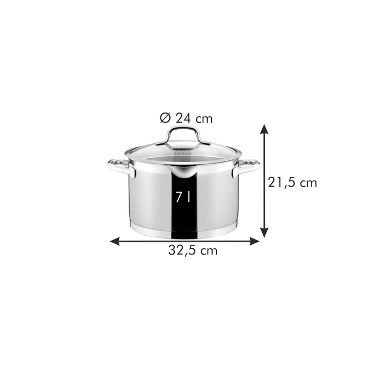 Hrnec PRESIDENT s cedicí poklicí ø 24 cm, 7.0 l
