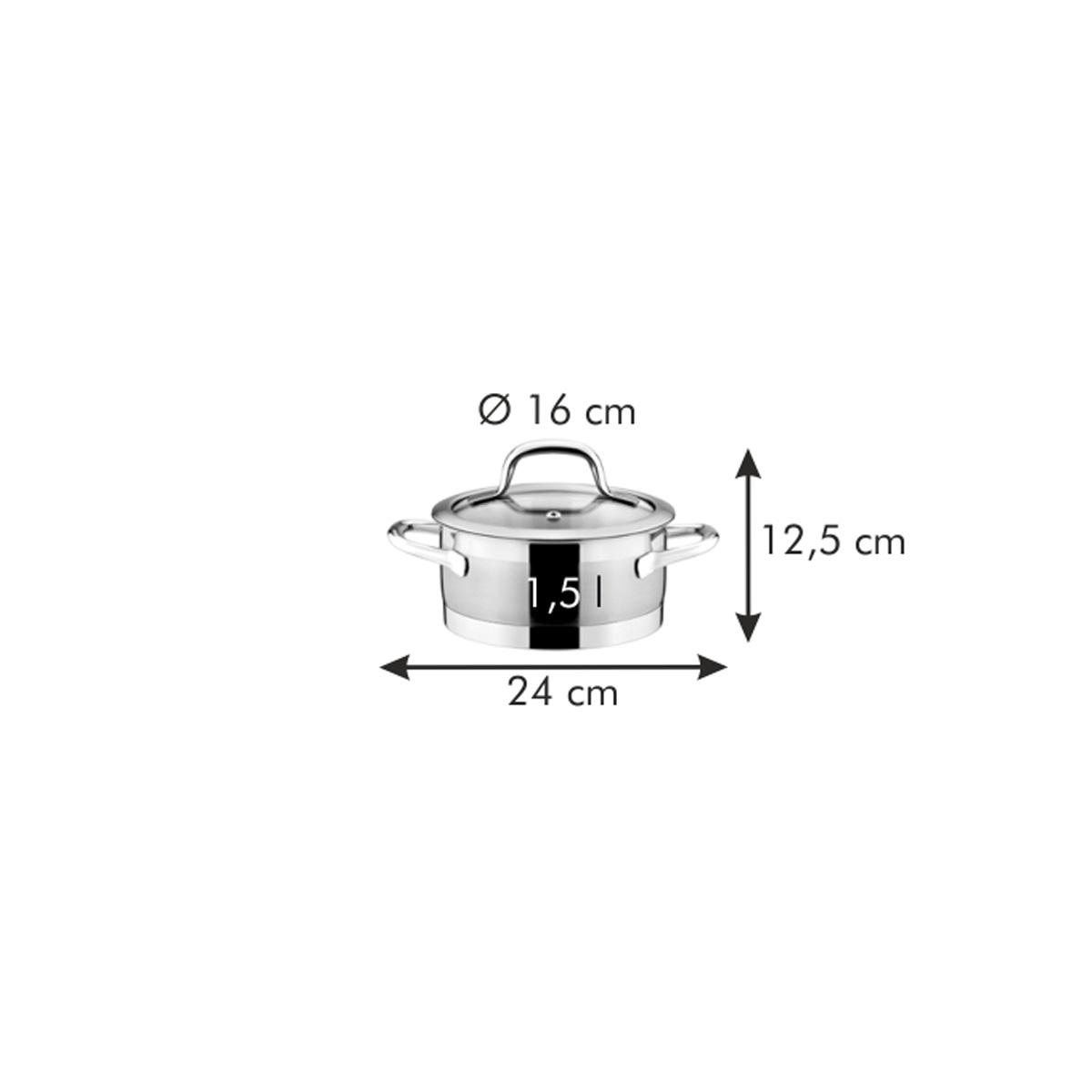 Kastrol PRESIDENT s poklicí ø 16 cm, 1.5 l
