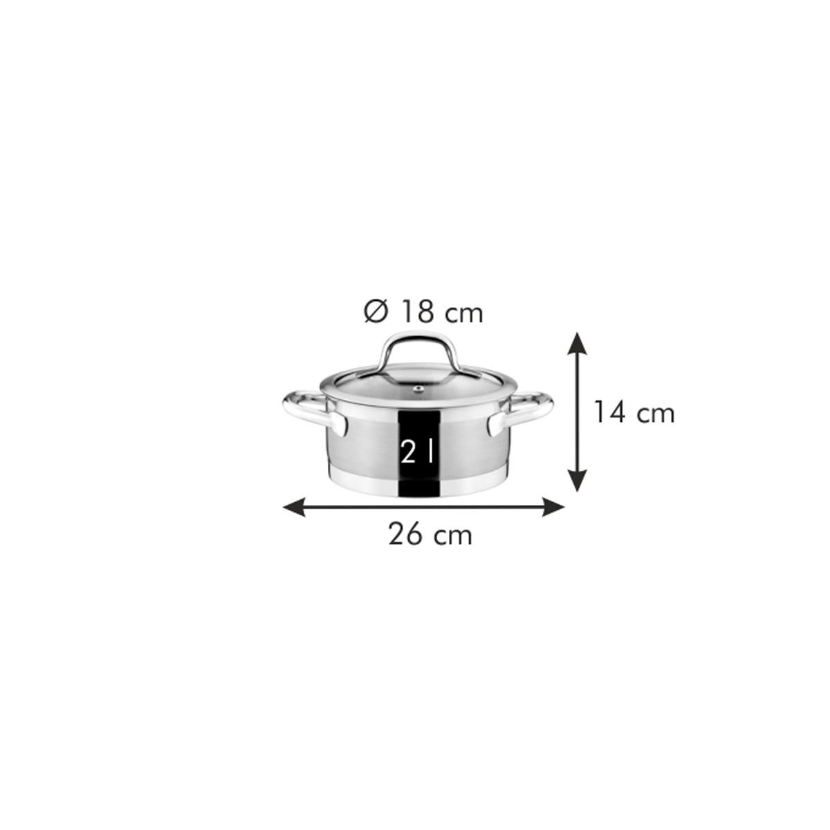Kastrol PRESIDENT s poklicí ø 18 cm, 2.0 l