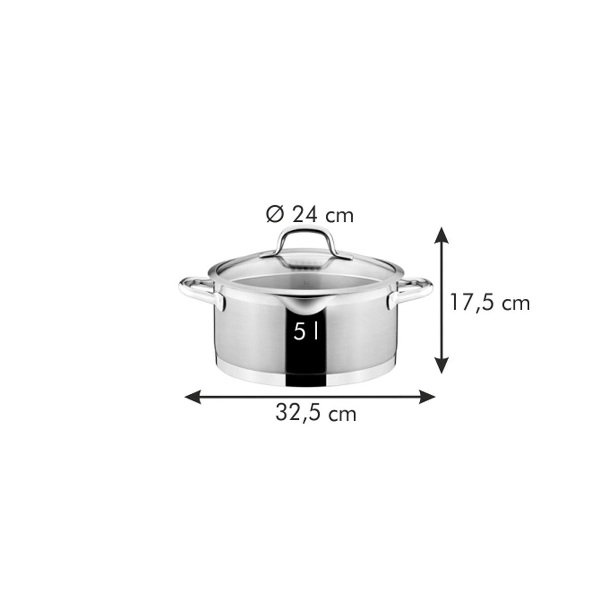Kastrol PRESIDENT s cedicí poklicí ø 24 cm, 5.0 l