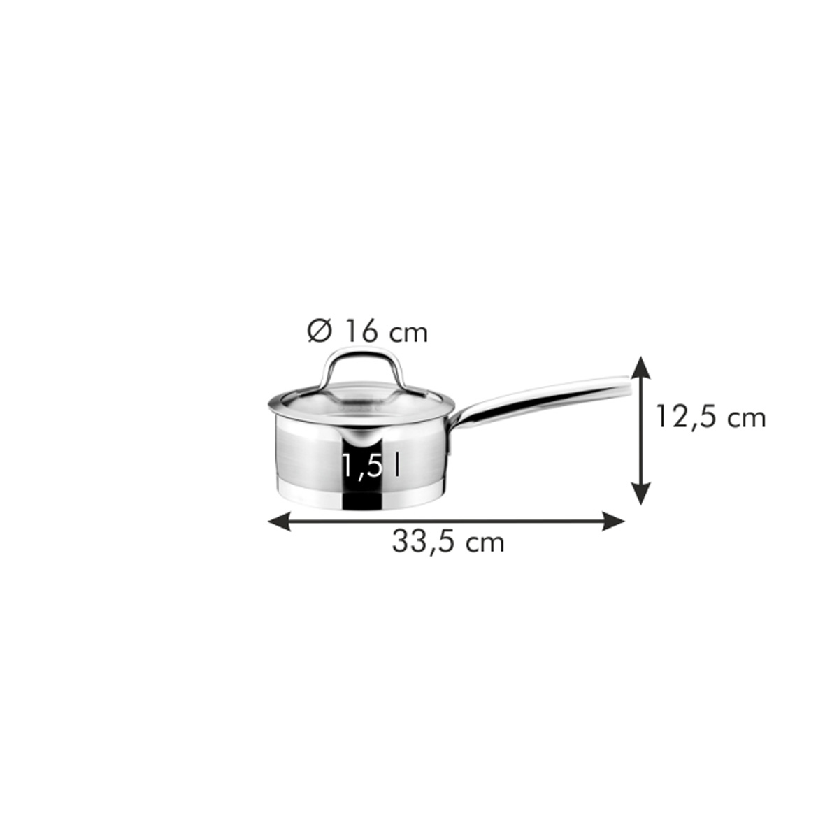 Rendlík PRESIDENT s cedicí poklicí ø 16 cm, 1.5 l