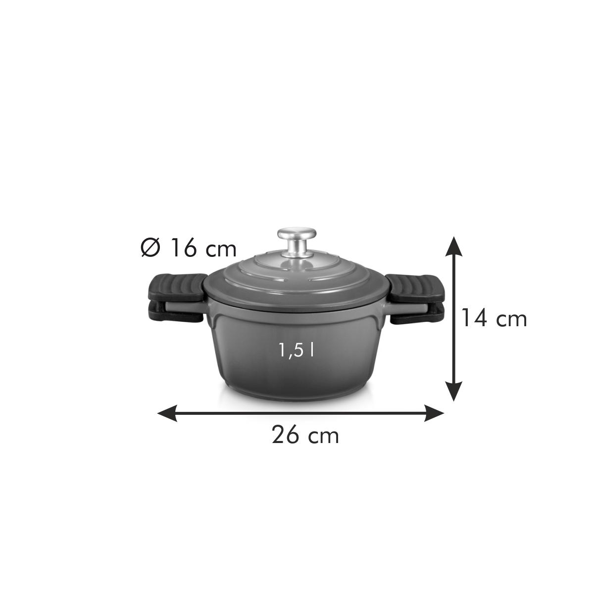Kastrol s poklicí BORDEAUX ø 16 cm, 1,5 l