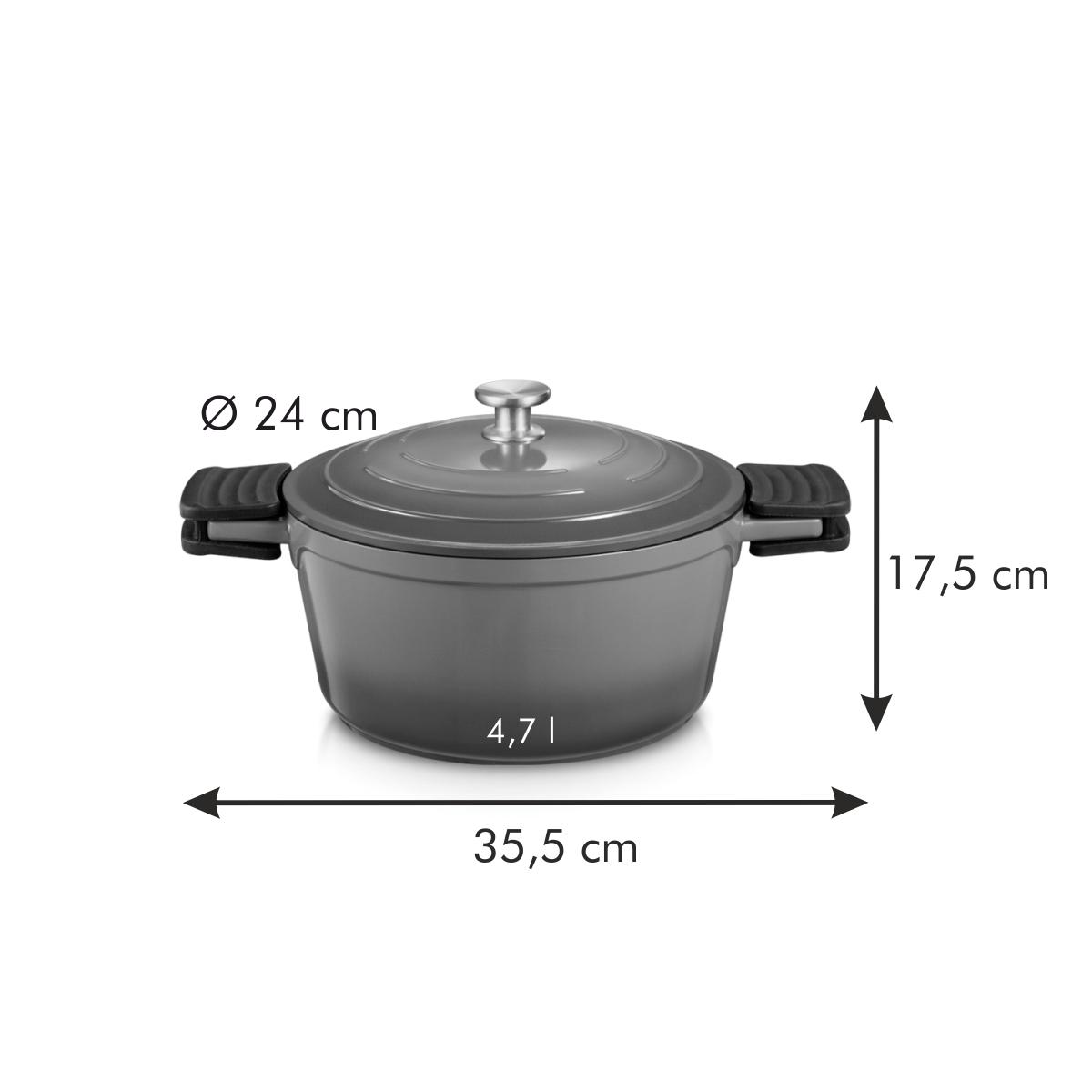 Kastrol s poklicí BORDEAUX ø 24 cm, 4,7 l