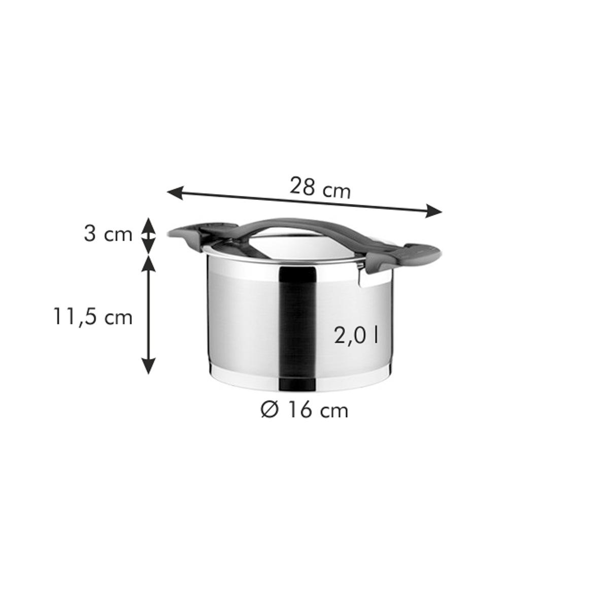 Hrnec ULTIMA s poklicí ø 16 cm, 2.0 l