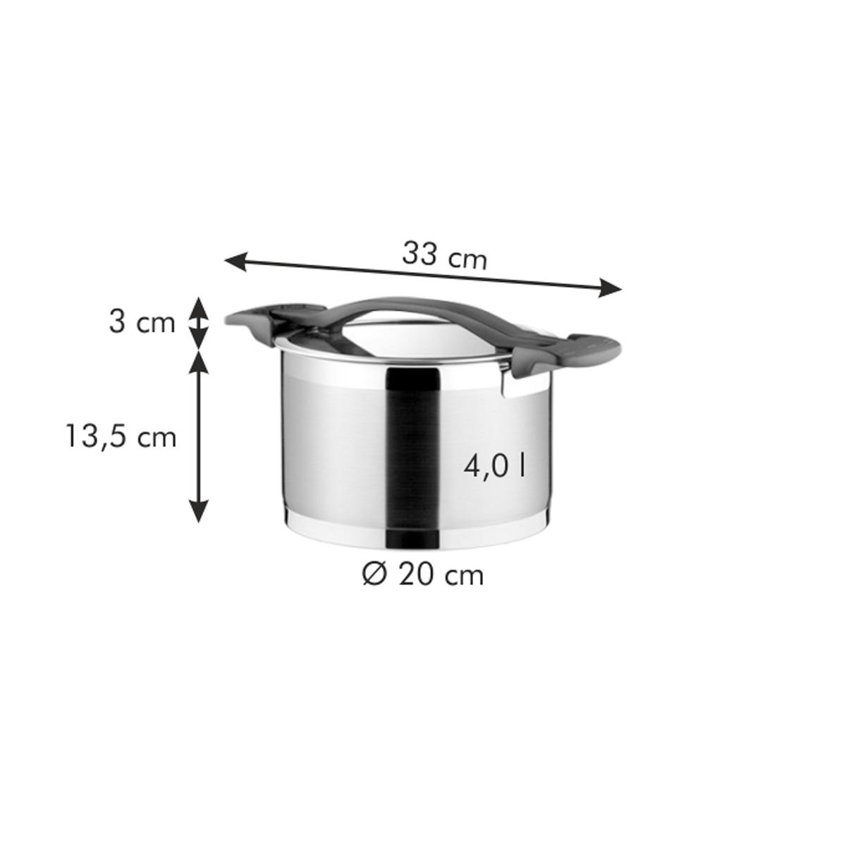 Hrnec ULTIMA s poklicí ø 20 cm, 4.0 l
