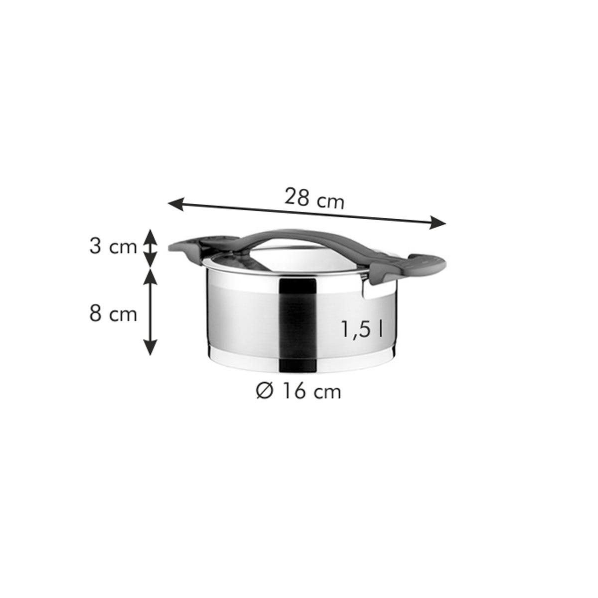 Kastrol ULTIMA s poklicí ø 16 cm, 1.5 l