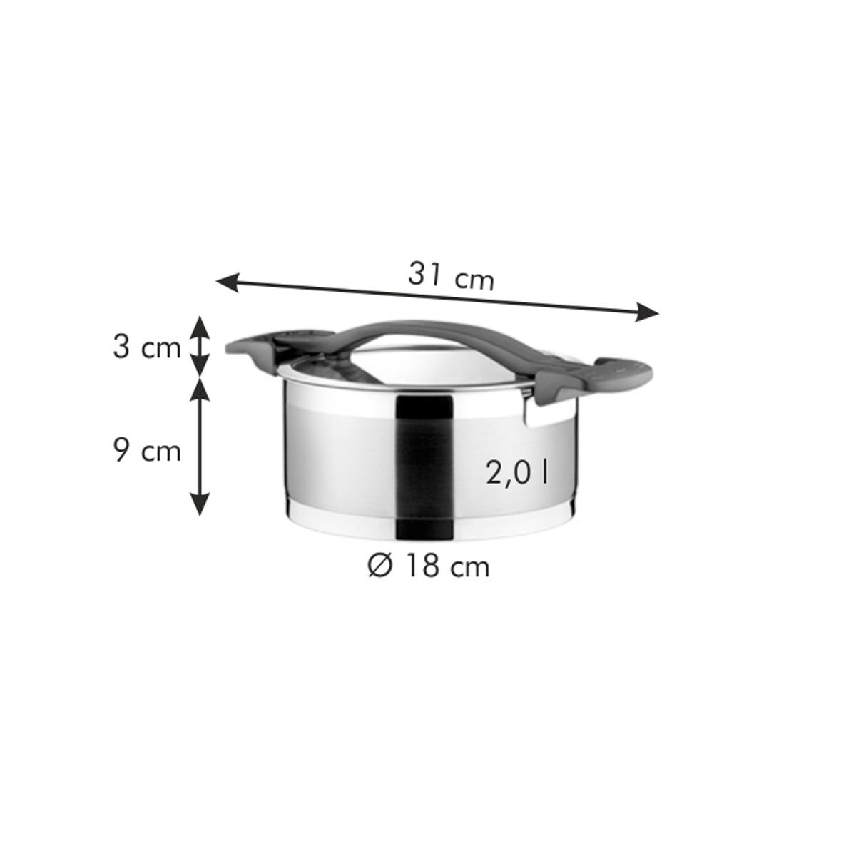 Kastrol ULTIMA s poklicí ø 18 cm, 2.0 l