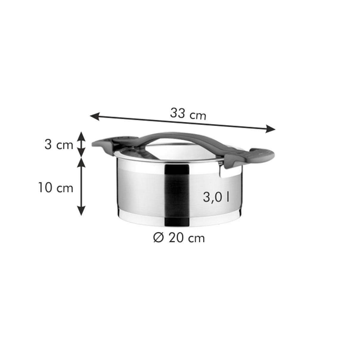 Kastrol ULTIMA s poklicí ø 20 cm, 3.0 l