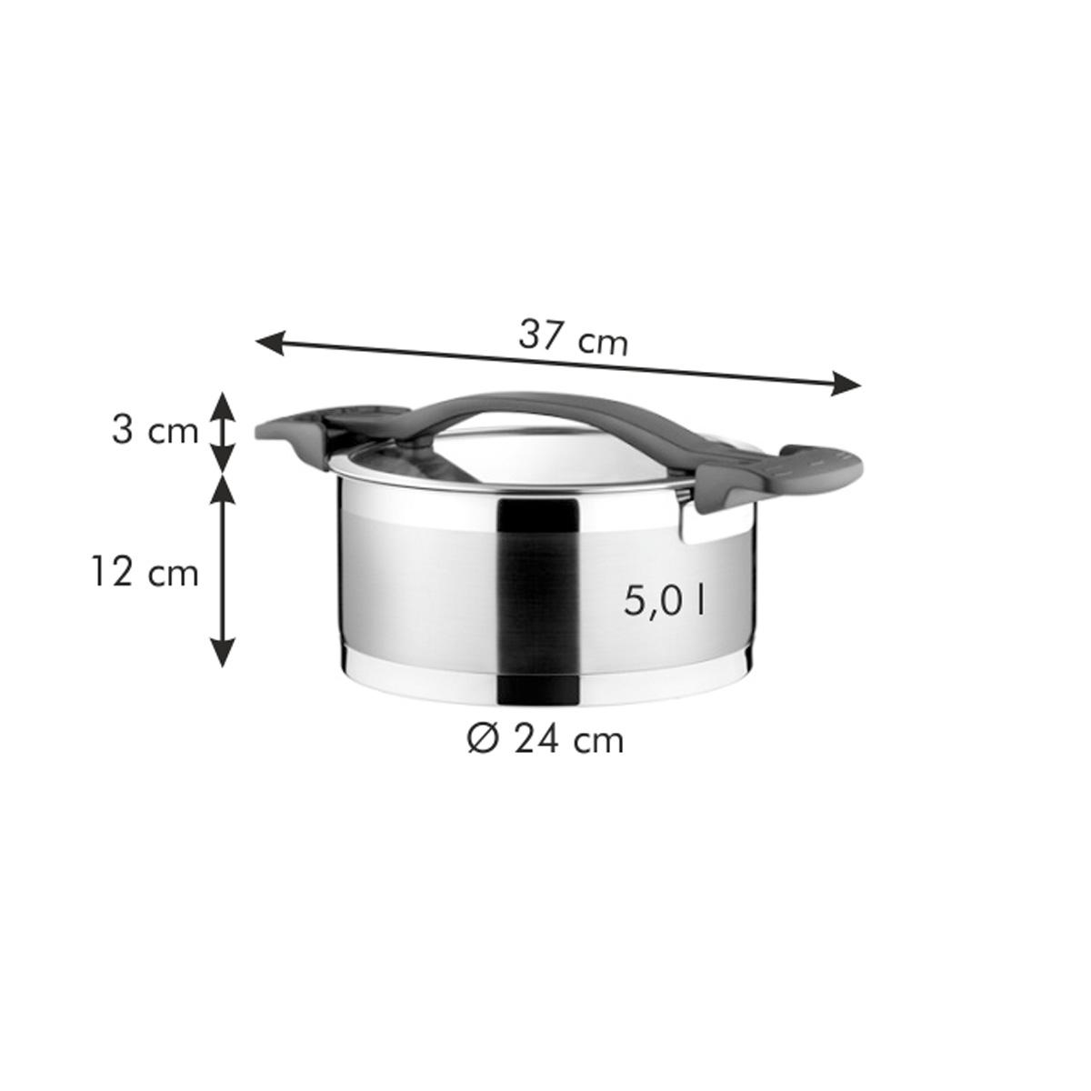 Kastrol ULTIMA s poklicí ø 24 cm, 5.0 l