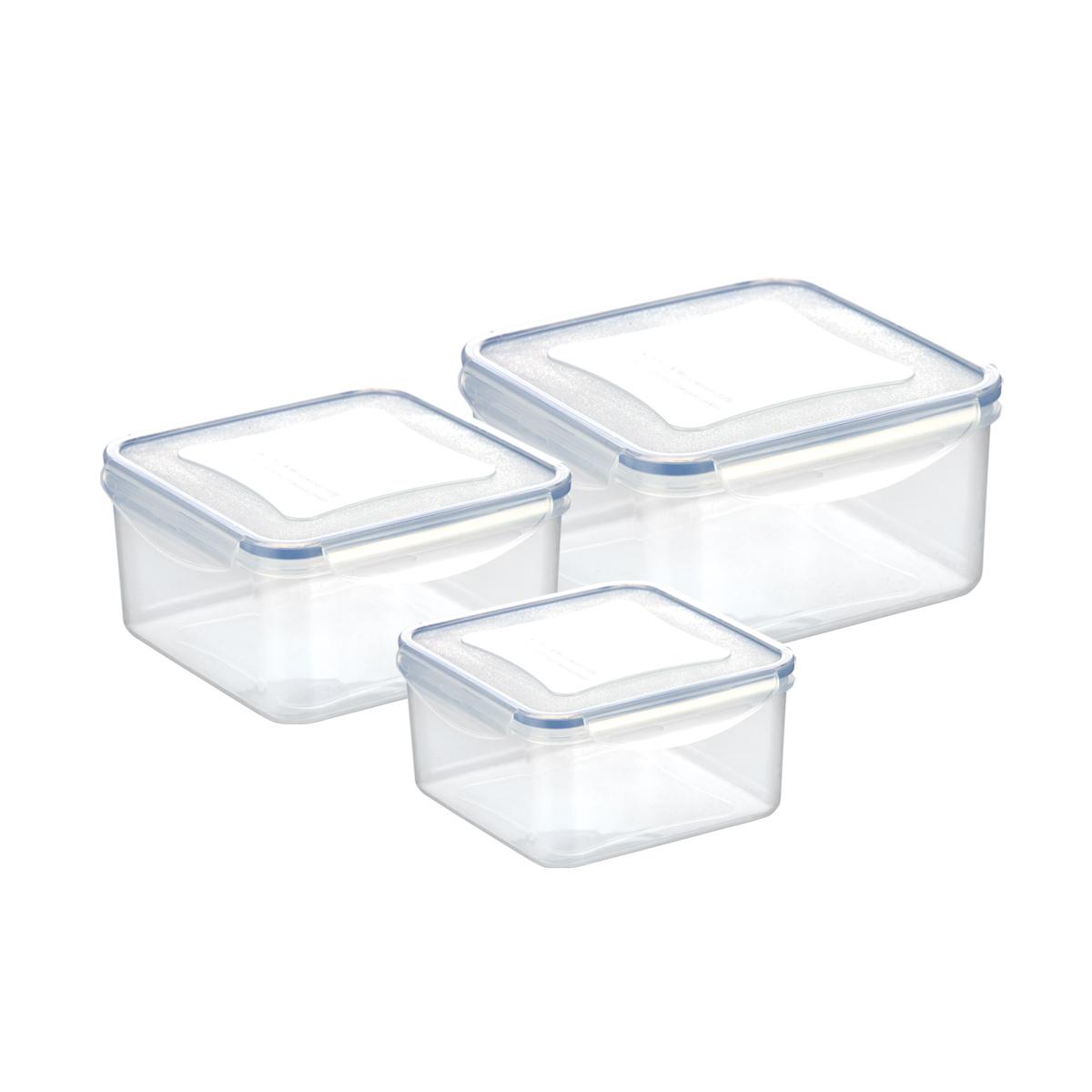 Dóza FRESHBOX 3ks, 1.2, 2.0, 3.0 l, čtvercová