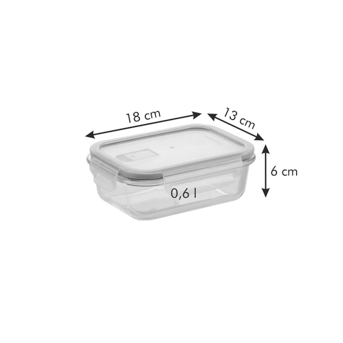 Dóza FRESHBOX GLASS 0.6 l, obdélníková