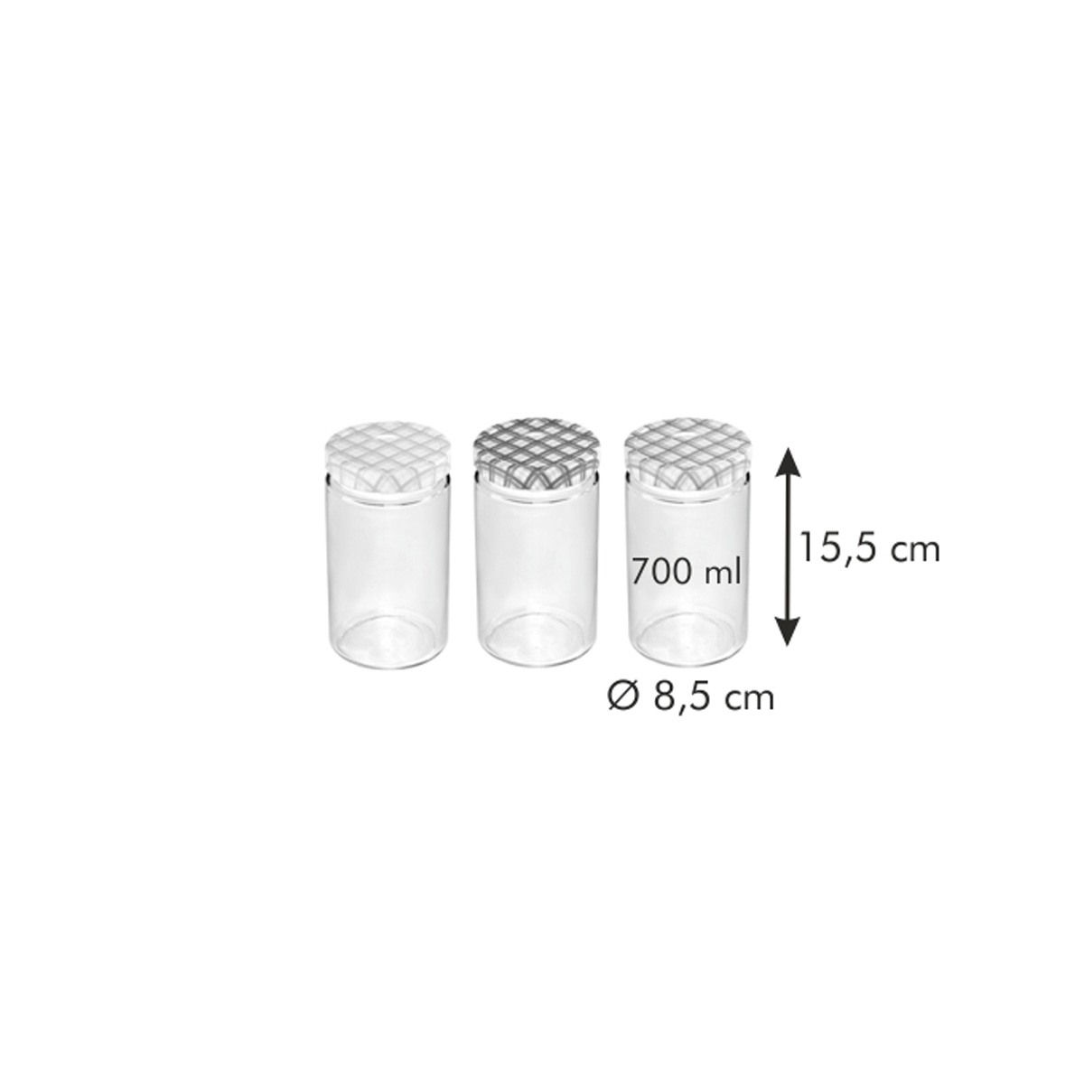 Zavařovací sklenice TESCOMA DELLA CASA 700 ml, 3 ks