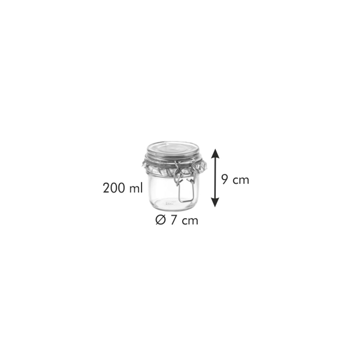 Zavařovací sklenice s klipem TESCOMA DELLA CASA 200 ml