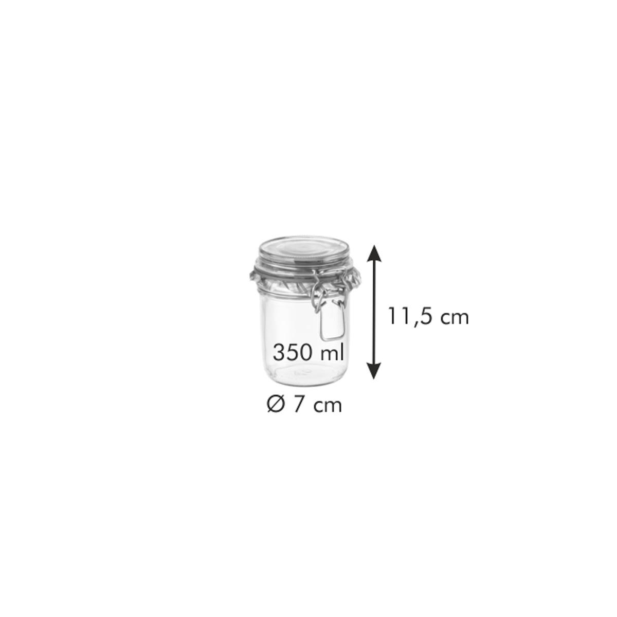 Zavařovací sklenice s klipem TESCOMA DELLA CASA 350 ml