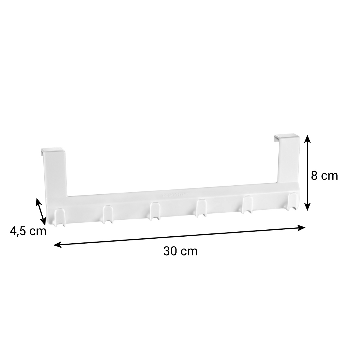 Závěsná lišta s háčky FlexiSPACE 30 cm