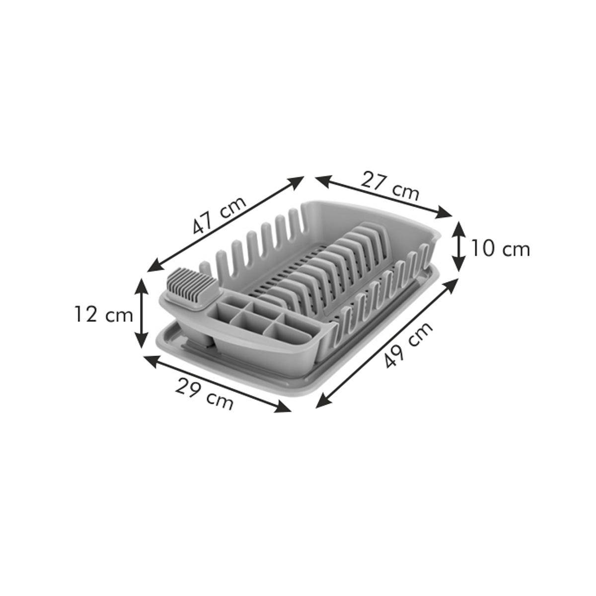 Odkapávač s podnosem CLEAN KIT, šedý