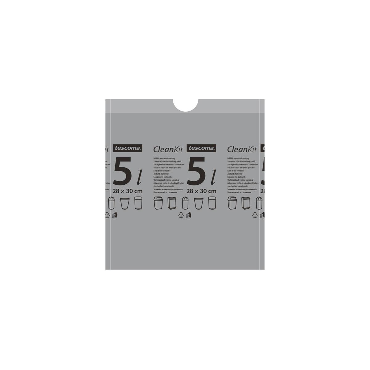 Zatahovací sáčky do odpadkových košů CLEAN KIT 5 l, 15 ks