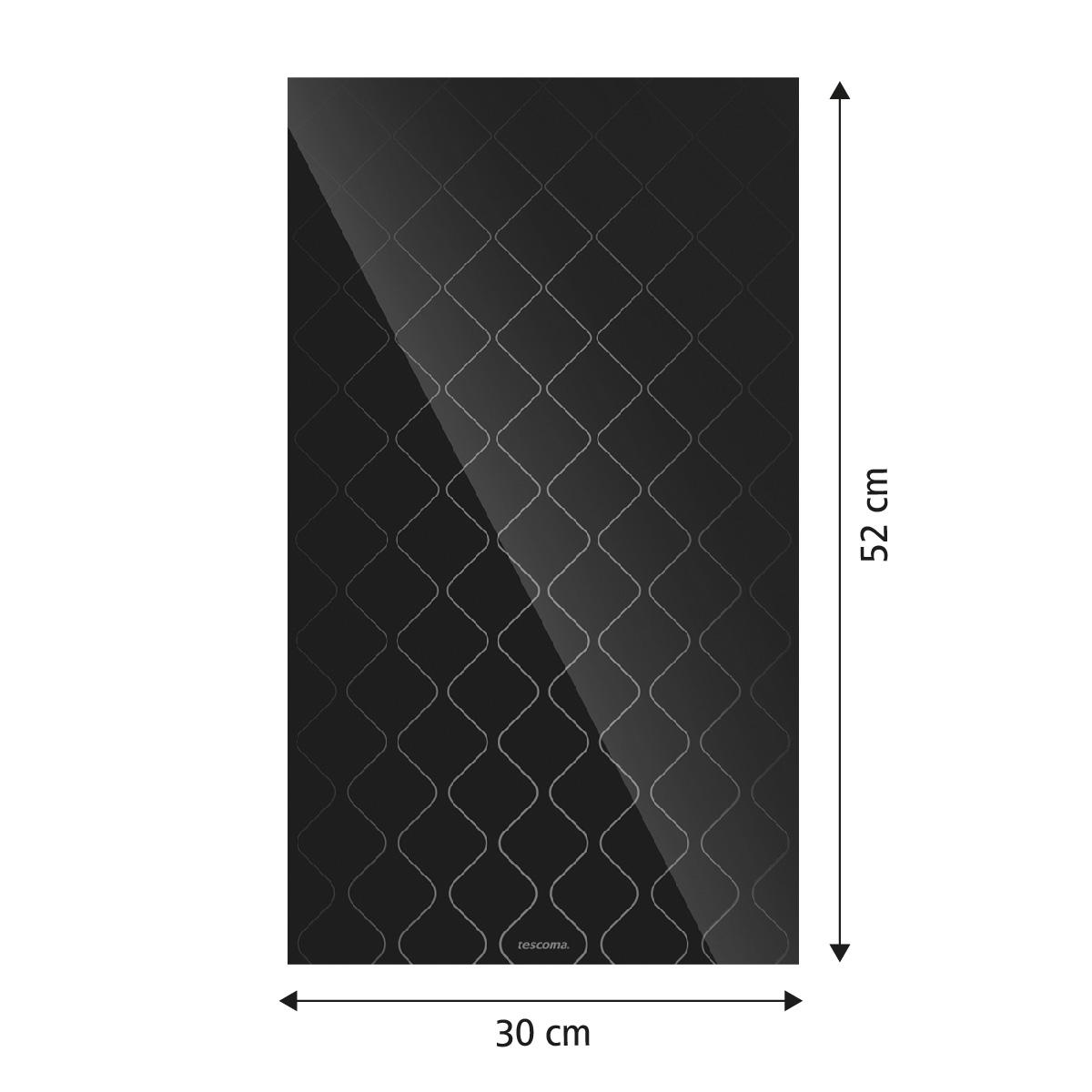 Skleněná odkládací deska na sporák ONLINE 30 x 52 cm, vlnky