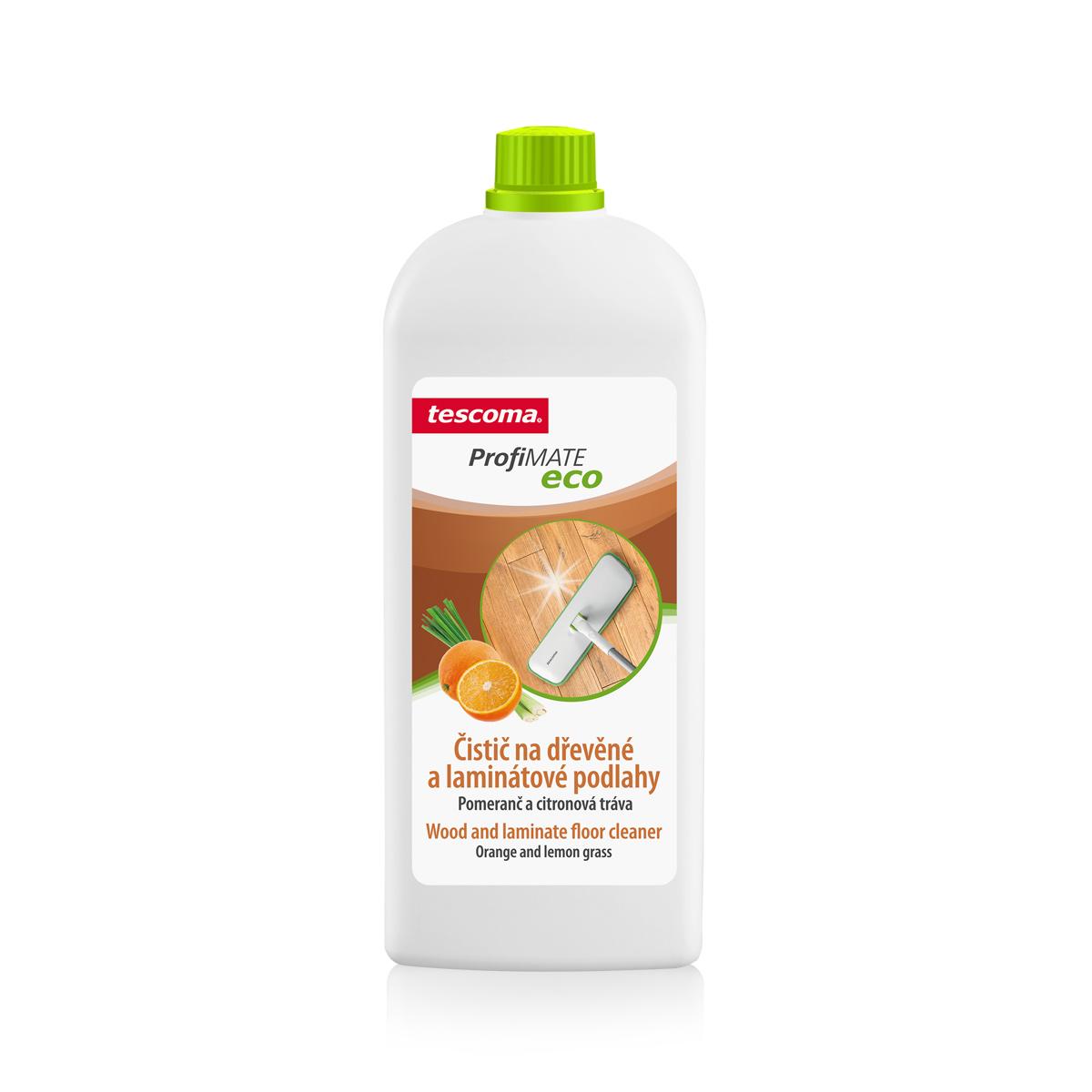 Čistič na dřevěné a laminátové podlahy ProfiMATE 1000 ml, Pomeranč a citronová tráva
