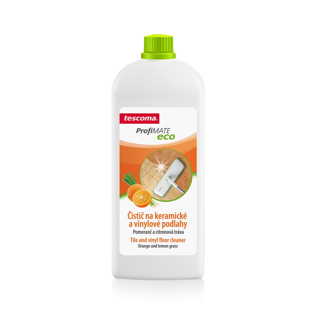 Čistič na keramické a vinylové podlahy ProfiMATE 1000 ml, Pomeranč a citronová tráva