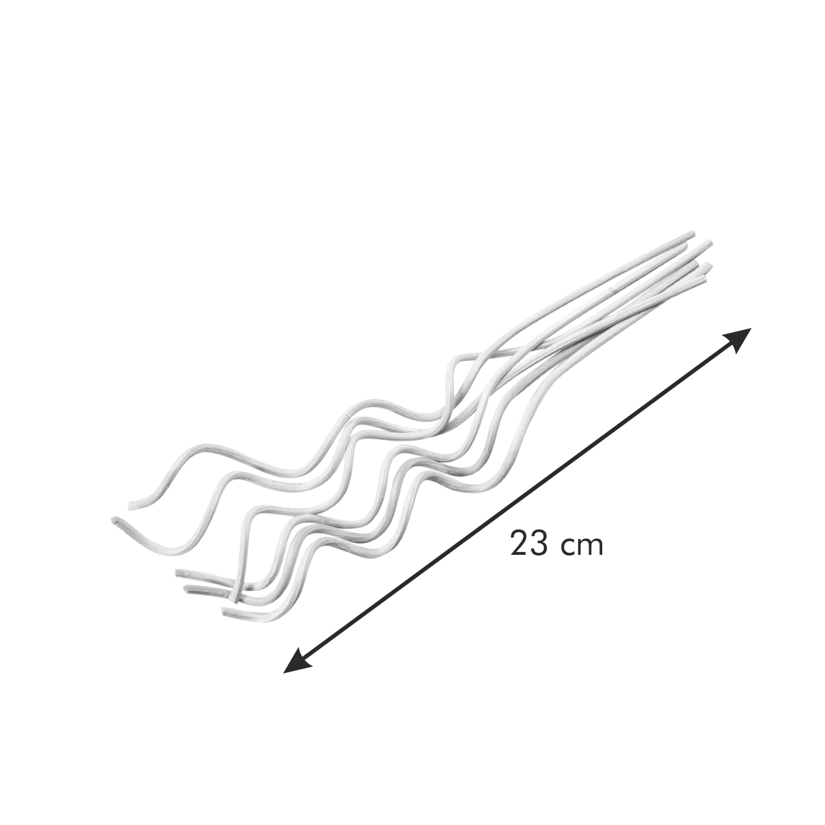 Ozdobné ratanové tyčinky FANCY HOME, 6 ks, vlnky