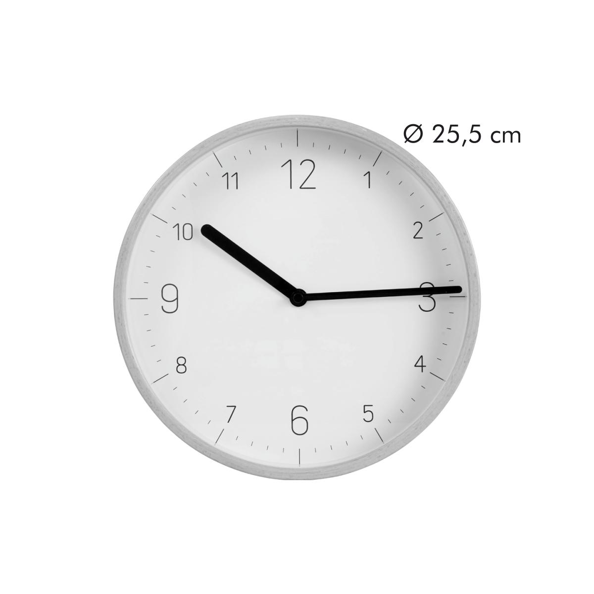 Nástěnné hodiny FANCY HOME, dřevo, bílý ciferník