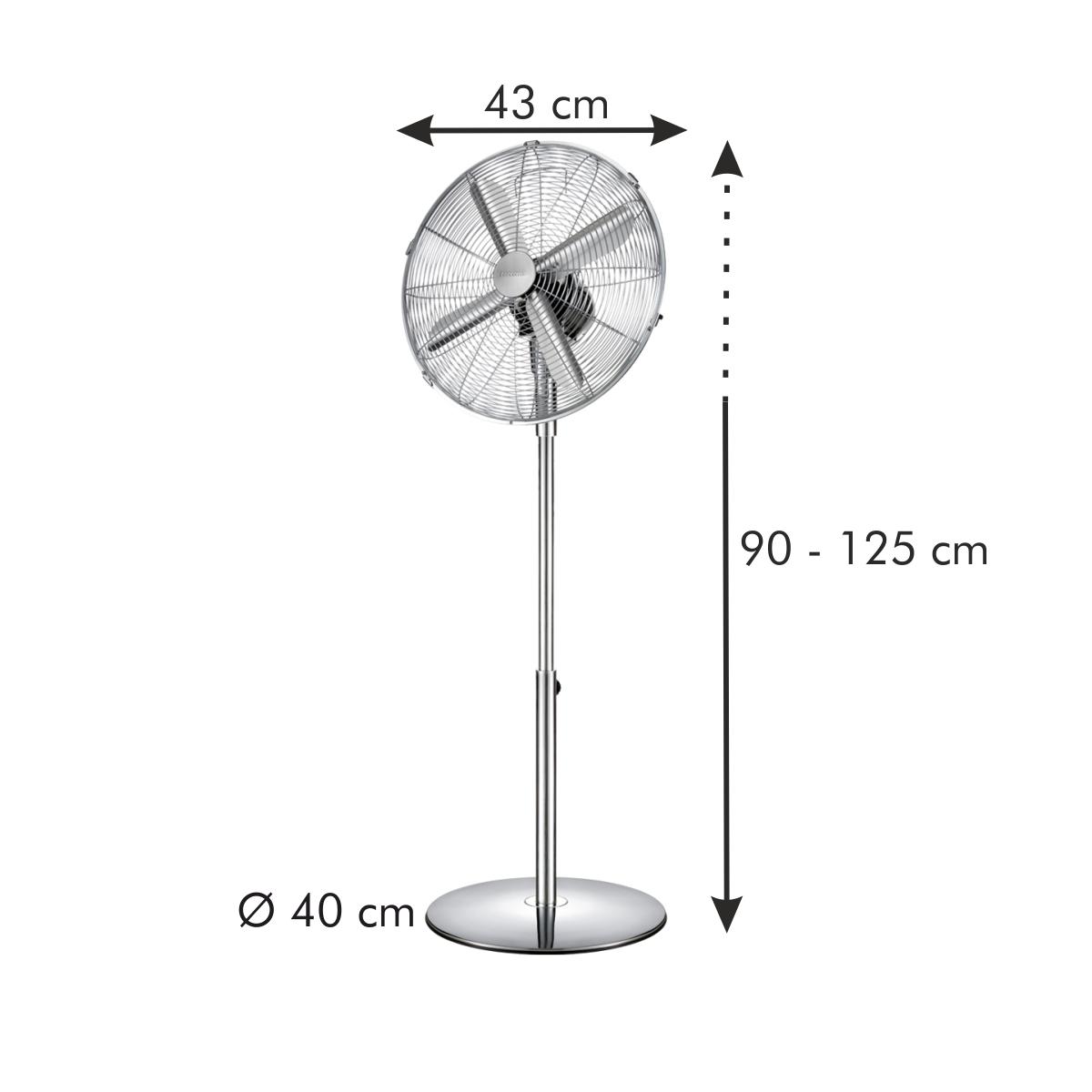 Stojanový ventilátor FANCY HOME ø 40 cm, chrom
