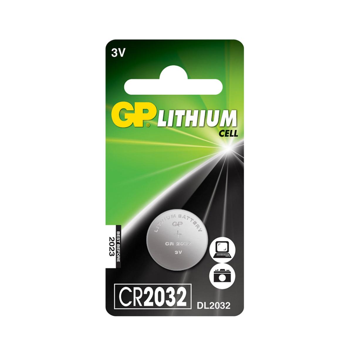 Knoflíková baterie GP CR2032, 1 ks