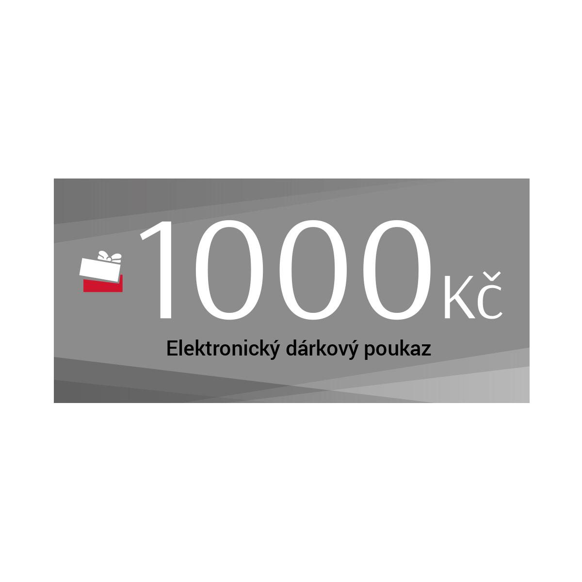 Dárkový poukaz 1000 Kč elektronický