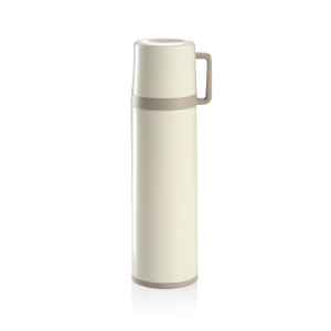 Vacuum flask with cup CONSTANT CREAM 0.7 l, stainless steel