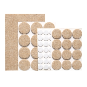Adhesive pads under furniture PRESTO, set of 60