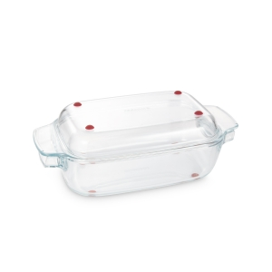 Roaster with lid GrandCHEF 34 x 19 cm, glass