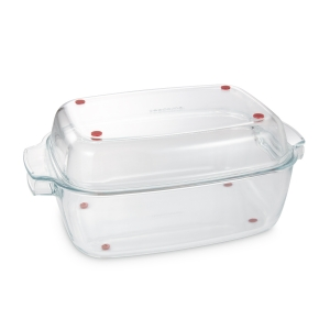 Roaster with lid GrandCHEF 40 x 26 cm, glass