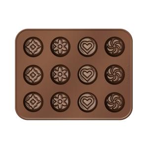 Moldes de chocolate DELÍCIA SILICONE, chocolate surtidos